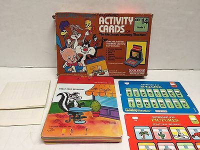 Vintage Coleco Looney Tunes Activity Card Set Electronic Learning Machine Set 14