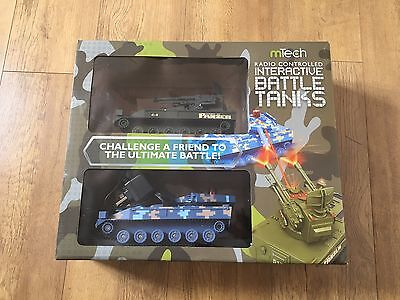 RRP £29.99 - RADIO CONTROLLED PAIR of BATTLE TANKS GAMES 2 INCLUDED REMOTE - NEW
