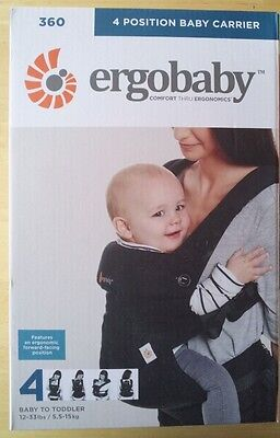 NEW - Ergobaby 4 Position 360 Carrier - Pure Black - FREE SHIPPING