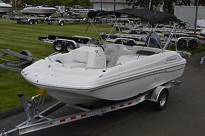2013 Hurricane 188 Sun Deck Sport, Yam. 150 4Strk, 10 Person Cap., New Trailer