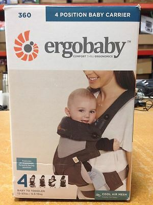 NEW - Ergobaby 360 4 Position Baby Carrier Cool Air - Carbon Grey- FREE SHIPPING