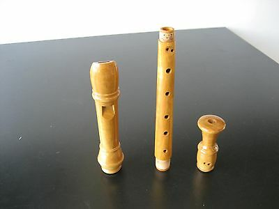 "Rare ""j&m Dolmetsch"" Treble / Alto Recorder, Late 1970's, Satinwood"