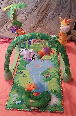 Fisher Price Rainforest Baby Activity Center Gym Play Mat 1 2 3 COMPLETE pre-own