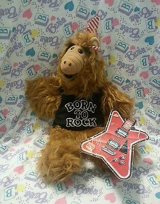 Vintage 1988 ALF Born To Rock Hand Puppet Plush - Burger King Promo