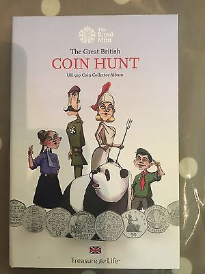 Royal Mint Great British  Coin Hunt Album, With Coins .50p