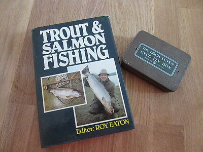 Vintage Fly Fishing Loch Leven Fly tin and Fly Fishing book