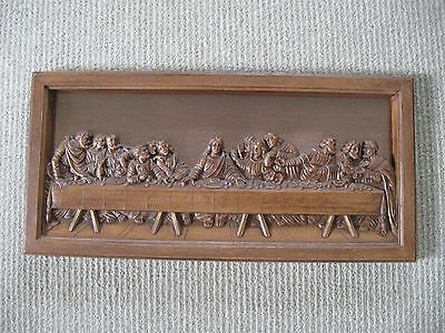 Vintage Coppercraft Guild Last Supper Framed
