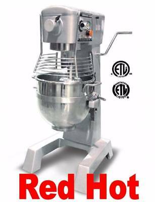 Omcan 20442 2Hp 30 Qt Commercial Planetary Stand Dough Food Mixer Gear Driven