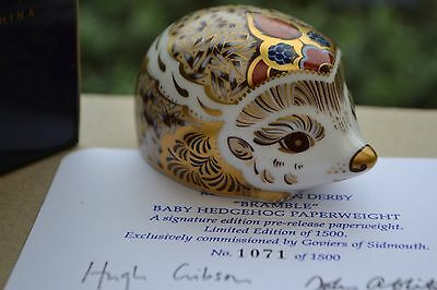 """Royal Crown Derby Paperweight """"BRAMBLE"""" Goviers Signature Edition 1500 1st Qual"""