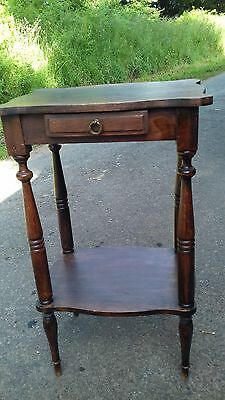 Vintage Early 20Thc French Small Occasional Table With Drawer
