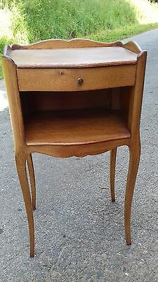 Vintage Mid 20Thc French Small Occasional Table/bedside With Drawer