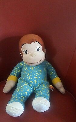 "Gund Curious George Dressed in Pajamas 16"" Plush Stuffed Animal"