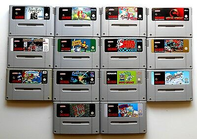 Lot de 14 Jeux Super Nintendo - Pal