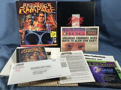 Computer PC Big Box Game Dos CD-ROM Redneck Rampage Complete