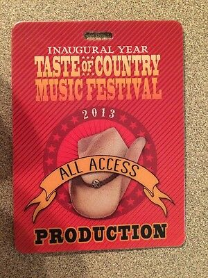 Taste Of Country 2013 Inaugural Year All-Access Production Laminate