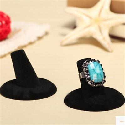 NEW  Black Velvet Finger Ring Stand Jewelry Display TO