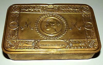 WW1 Christmas 1914 Princess Mary Brass Chocolate Tin