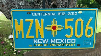 New Mexico  Land Of Enchantment   License Plate # Mzn * Zia * 506