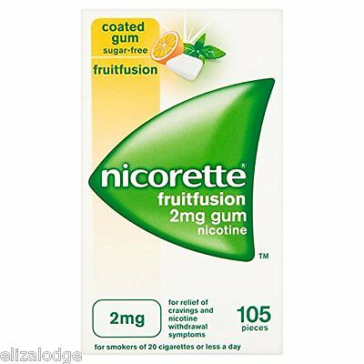 Nicorette Nicotine Gum FRUIT FUSION FLAVOUR 2mg (105 pieces)