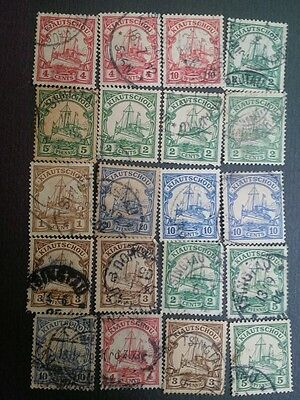 "Stamps German  Kiauchau ""CHINA""  lot Used Value -$90 +"