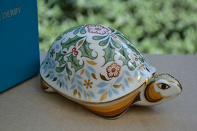 """Royal Crown Derby Paperweight """"WINTER TORTOISE""""  NEW  1st Quality & Original Box"""