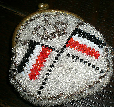 Antique Beaded Emboidery Purse Ww1 Germany Patriotic