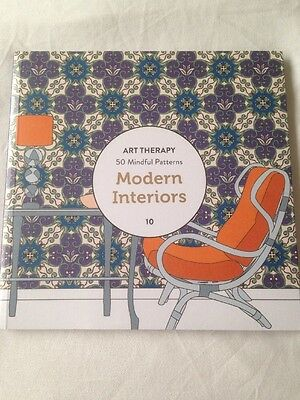 Adult Colouring Book - Art Therapy - 50 Mindful Patterns - Modern Interiors