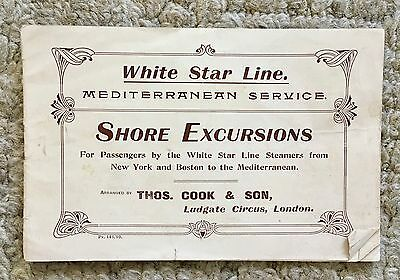 "1910 White Star Line Brochure Shore Excursions ""olympic Titanic Building"" Ref  ⚓"