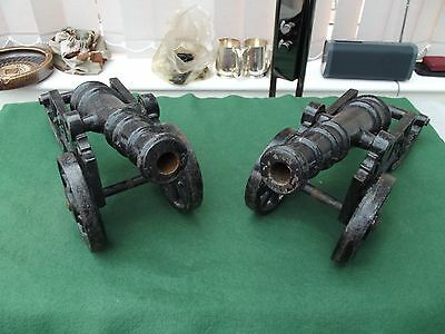 Pair Of Large Cast Iron Cannons