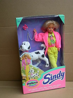 Vintage Petra Boxed Doll with Dog Sindy Friend 1994 Hasbro