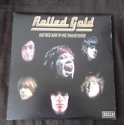"""The Rolling Stones Rolled Gold 1975 UK DECCA 2 X 12"""" vinyl records"""