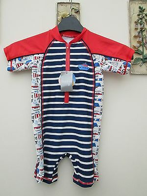 BOYS  1pce SUN PROTECTION SUIT AGE 12/18months   NEW WITH TAGS