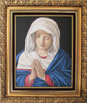 """Old Master Painting Reproduction """"The Virgin in Prayer"""""""