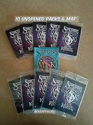 10 Packs Disney Sorcerers of the Magic Kingdom (50) Spell Cards & Map