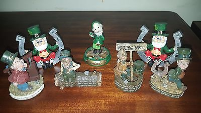 Irish Leprechaun resin figures,Finnians & various makes x 7