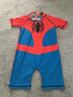 Spiderman Swim Suit All In One 1.5 - 2 Years NEW