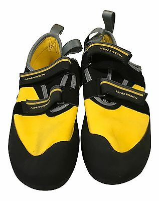 Mad Rock Flash 2.0 Climbing Shoe, Yellow/Black, US 6.5