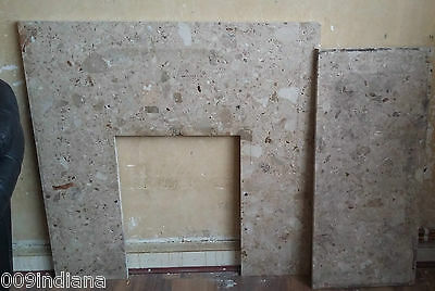 marble hearth & back panel, Collection only ST3