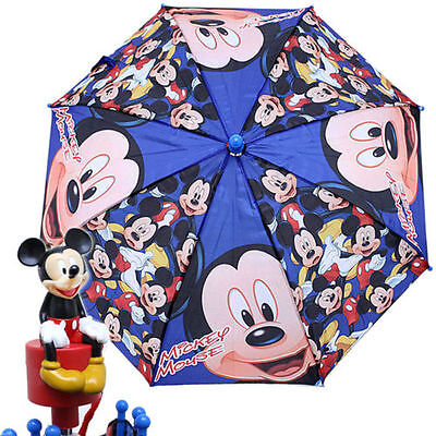 New Disney Mickey Mouse All Over Boys Umbrella - Mickey 3D Handle