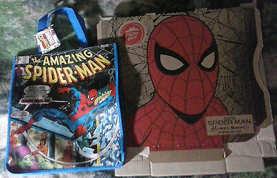 Pizza Hut Spider-Man Promo Box Homecoming Movie And Spider-Man Comic Bag