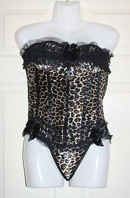 Joblot of 5 New Sexy leopard print corsets with thong size 6-8 great for resale