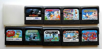 Lot de 9 Jeux Sega Game Gear - Pal