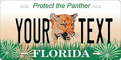 Florida Save Panther Personalized Custom License Plate Car Motorcycle Bike