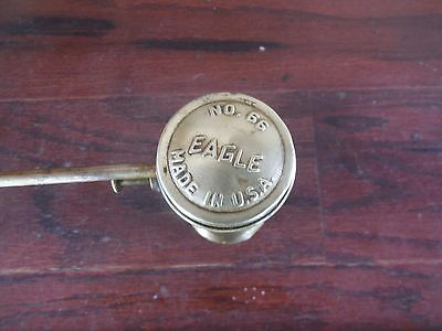 "Eagle No. 66 Oil Can 5"" tall Rare Brass Cylinder Oiler USA Advertising"