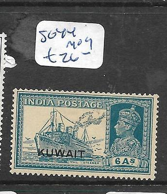 Kuwait (P0203B) On India Kgvi  6A  Boat   Sg 44  Mog