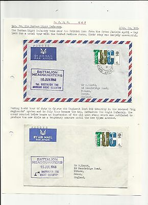 Cyprus 1968 Durham light infantry cover + another cover   written up