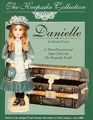 DANIELLE a 3-D Paper Doll & Her Trunk -- based on an Antique French bisque doll