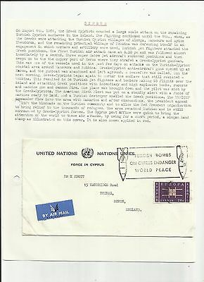 Cyprus 1964 Turkish bombs slogan pmk cover   written up