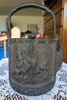 japanese antique tetsubin cast iron teapot 1800's meiji era?