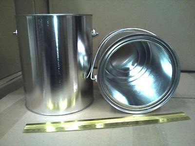 1 Gallon Unlined Paint Can with Lid, with handle. Case of 35